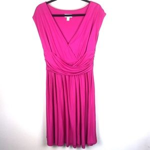 LOFT Pink faux Wrap Dress